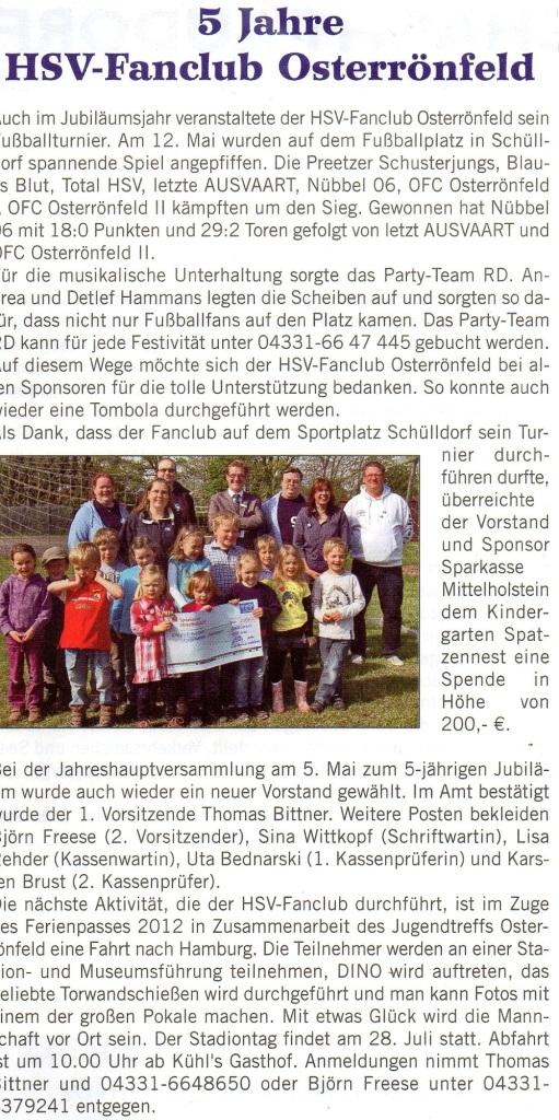 Bericht Kanalblatt 2012