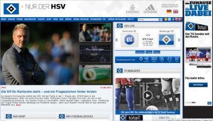 Homepage HSV de