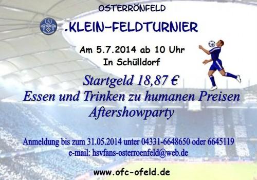 5. Fanclub-Turnier vom HSV-Fanclub Osterrönfeld 05.07.2014
